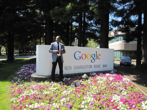Photos: Youmani Jérôme Lankoandé au siège de Google à Mountain View
